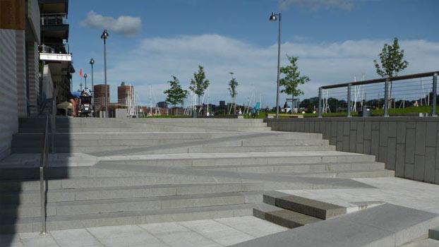 La scala del Parco pubblico di Tjuvholmen