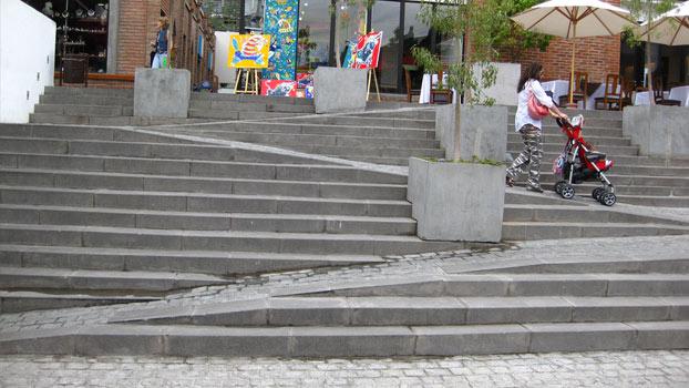 Scala da esterno Stair Ramp Combination