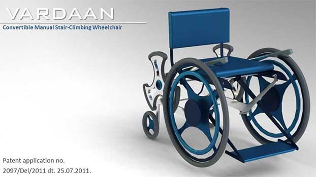 Vardaan, la sedia a rotelle per salire e scendere una rampa di scale