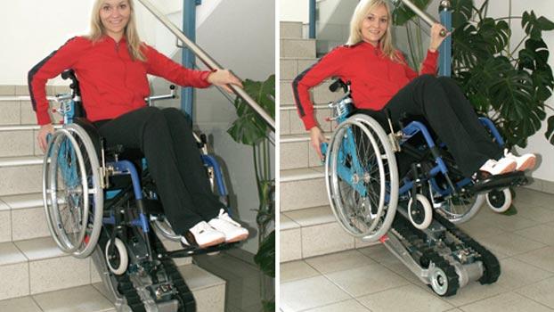 montascale a cingoli mobile stairmax per sedia a rotelle On cingolato per sedia a rotelle