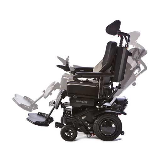 Carrozzina elettrica con montascale a ruote marty joy for Sedia elettrica x scale