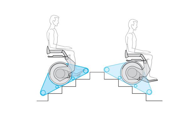 Sedia a rotelle per disabili Carrier per salire le scale
