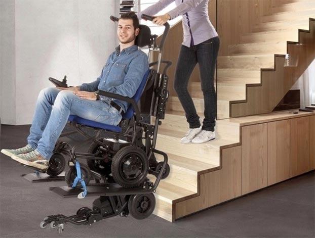 Sedie A Rotelle Per Scale : Lg la sedia a rotelle che permette di salire le scale scale
